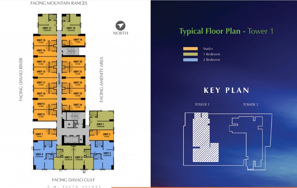Avida Towers Davao Typical Floor Plan